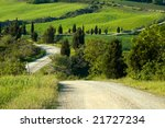 Winding Gravel Road In Tuscany...
