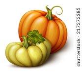 autumn orange and yellow... | Shutterstock . vector #217272385