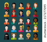 women appearance icons. people...