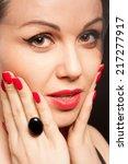 beautiful closeup portrait of a ... | Shutterstock . vector #217277917
