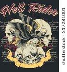 hell rider | Shutterstock .eps vector #217281001