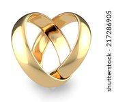 gold wedding rings | Shutterstock . vector #217286905