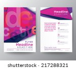 abstract triangle brochure... | Shutterstock .eps vector #217288321