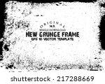 design template.abstract grunge ...   Shutterstock .eps vector #217288669