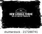design template.abstract grunge ... | Shutterstock .eps vector #217288741