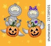 halloween illustration two... | Shutterstock .eps vector #217289101