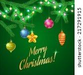 design of christmas card....   Shutterstock .eps vector #217291915