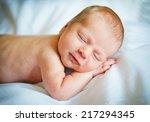 little newborn baby boy 12 days ... | Shutterstock . vector #217294345