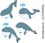 cartoon whale | Shutterstock . vector #217296901
