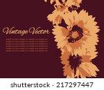 vintage postcard  banner with... | Shutterstock .eps vector #217297447