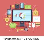 finance and money items... | Shutterstock .eps vector #217297837