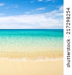 tropical sea | Shutterstock . vector #217298254