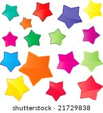 glossy colorful stars. this... | Shutterstock . vector #21729838
