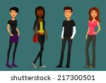 cute and colorful cartoon...   Shutterstock .eps vector #217300501