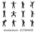 stick figure posture icons   Shutterstock .eps vector #217304335