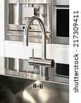 close up shot of faucet in... | Shutterstock . vector #217309411