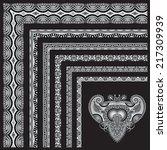 grey set of ornamental floral... | Shutterstock .eps vector #217309939
