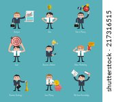 set of flat style icons for... | Shutterstock .eps vector #217316515