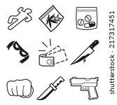 crime icons. vector... | Shutterstock .eps vector #217317451