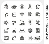 education icons set | Shutterstock .eps vector #217318309