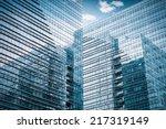 modern glass skyscraper closeup ... | Shutterstock . vector #217319149