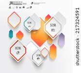 abstract 3d paper infographics | Shutterstock .eps vector #217324591