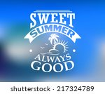 sweet summer leisure and travel ... | Shutterstock .eps vector #217324789