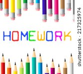 homework education showing... | Shutterstock . vector #217325974