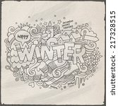 winter hand lettering and... | Shutterstock .eps vector #217328515