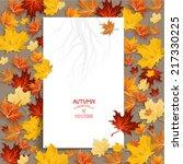White Blank With Autumn Maple...
