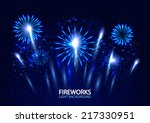 Abstract Colorful Fireworks...