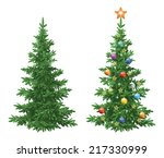 christmas holiday spruce fir... | Shutterstock .eps vector #217330999