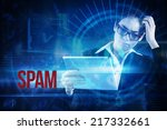 the word spam and thinking...   Shutterstock . vector #217332661