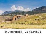 ruins of acropolis of... | Shutterstock . vector #217334671