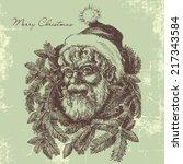 Vintage Santa Claus Sketch...