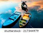 fish boat in the sea  lamma... | Shutterstock . vector #217344979
