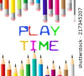 play time showing enjoy... | Shutterstock . vector #217345207