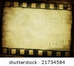 grunge film background with...   Shutterstock . vector #21734584