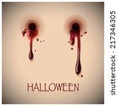 halloween festival bite and... | Shutterstock .eps vector #217346305