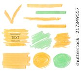 vector set of transparent... | Shutterstock .eps vector #217349557