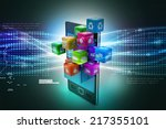 application icon concept | Shutterstock . vector #217355101