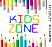 kids zone indicating social... | Shutterstock . vector #217355281