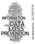 word cloud with data loss... | Shutterstock . vector #217357279