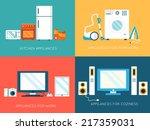 Flat Modern Home Electronics...