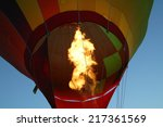 flames from hot air balloon