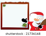 santa claus pointing on blank... | Shutterstock .eps vector #21736168