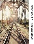 Old Steel Railway Bridge On Th...