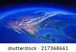 north america seen from space ... | Shutterstock . vector #217368661