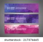 abstract banner with polygon... | Shutterstock .eps vector #217376665