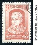 brazil   circa 1952  stamp...   Shutterstock . vector #217377829